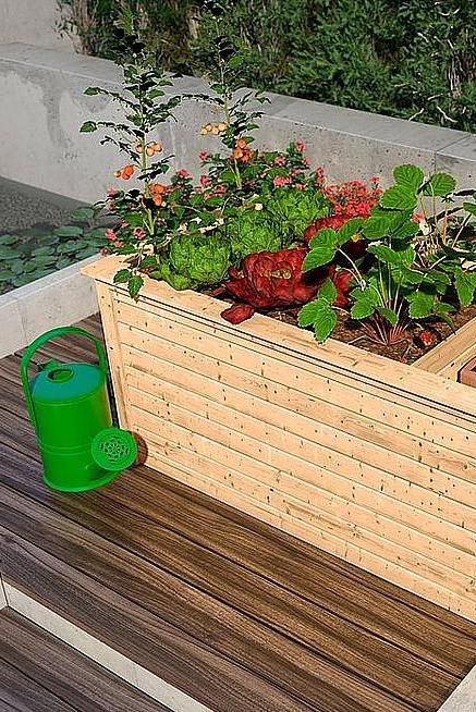 Karibu Hochbeet 2 Bxtxh 173x89x82 Cm Natur Mit Schrank Online Kaufen Pflanzideen Hochbeet Pflanzen