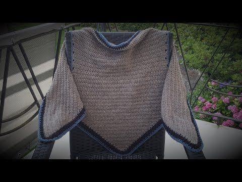 Tuch Nachtfalter häkeln - Ein einfaches , flaches Tuch in halbrund ...
