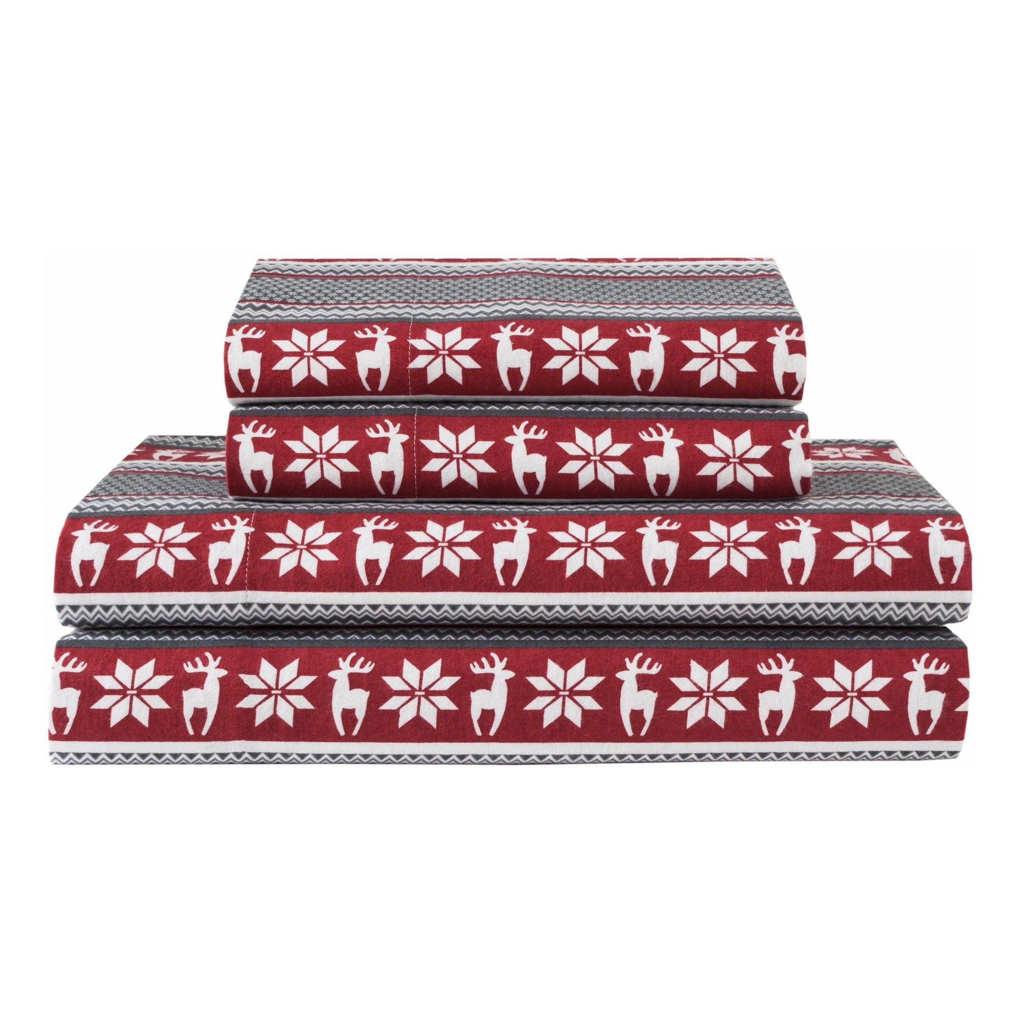 Red flannel sheets  Winter Nights Cotton Flannel Sheet Set Queen Red  Elite Home