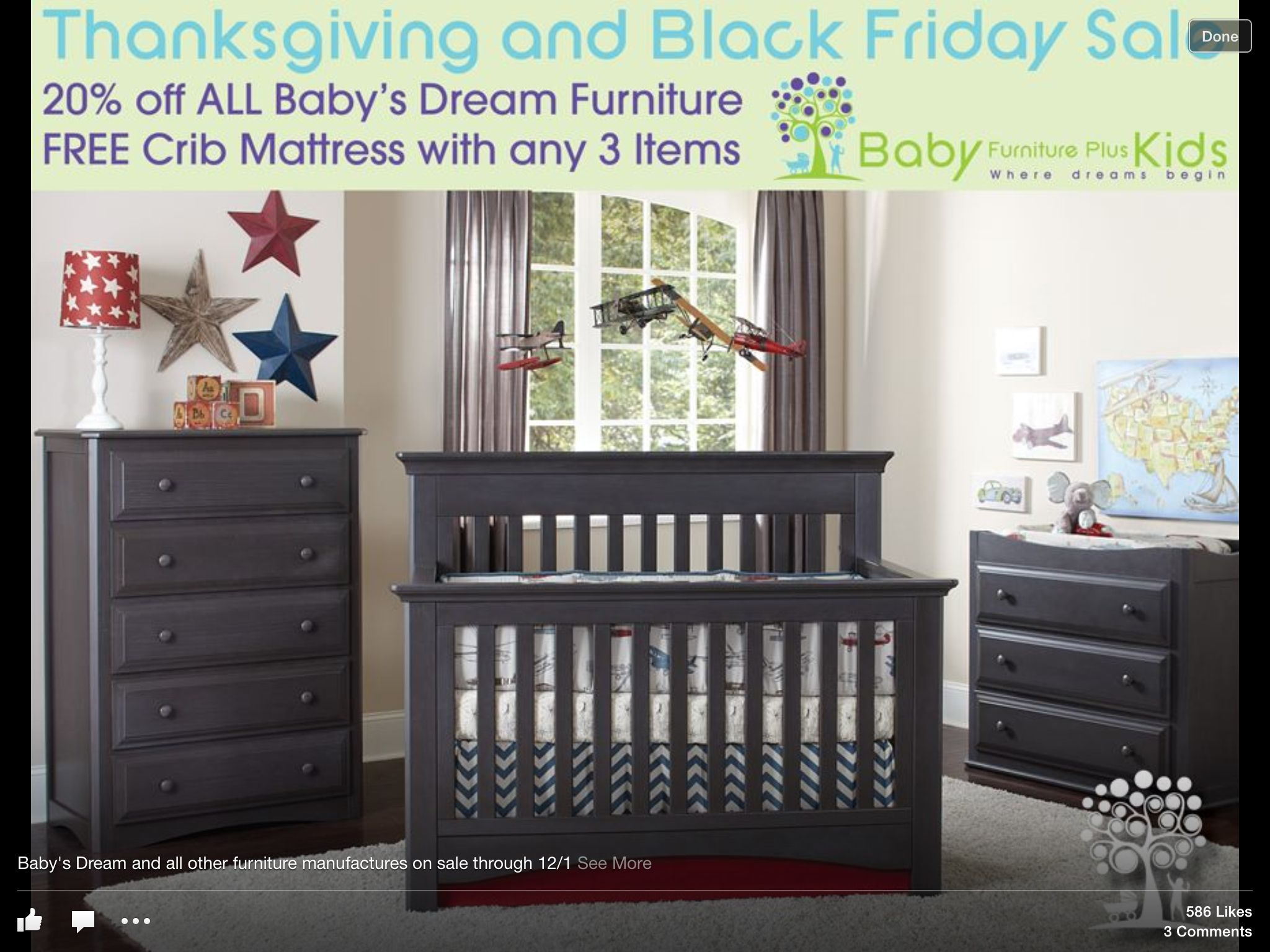 Love This Dark Gray Crib Stuff