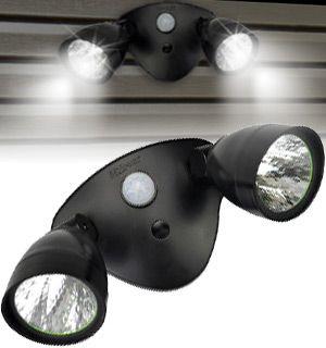 The IZoom Motion Sensor Spotlight adds security lighting around