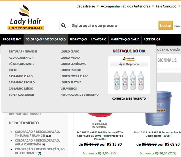 5203ae892e LadyHair Professionnal Loja Virtual Fastcommerce