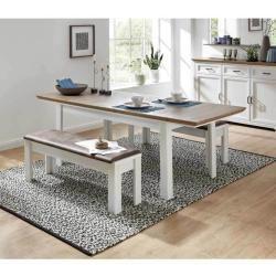 Photo of Innostyle Jasmin extending table 160 / 220x90cm light pine / Artisan oak Innostyle