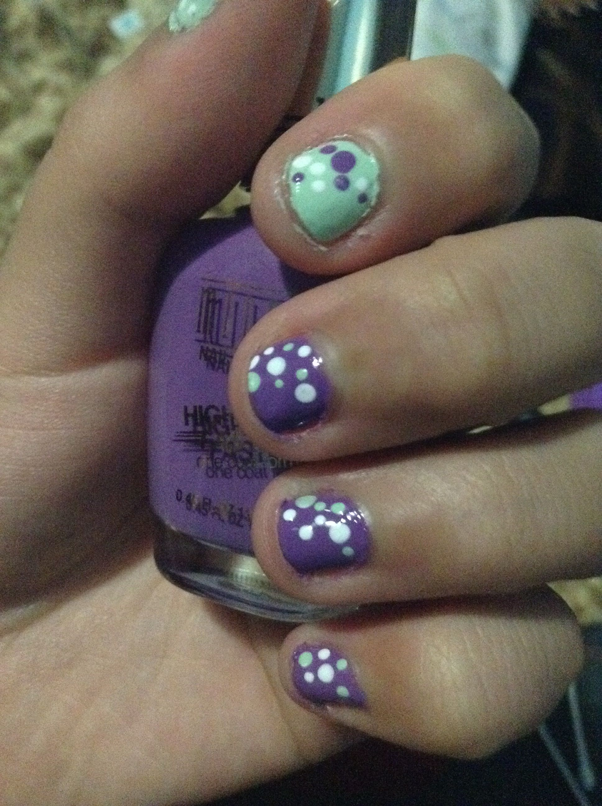 Dots designs for short nails done by me nail art pinterest