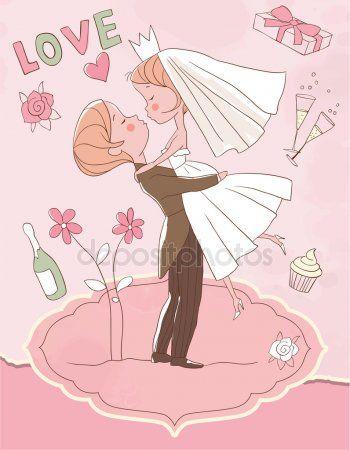 Свадьбу. Невеста и жених | Иллюстратор, Невеста