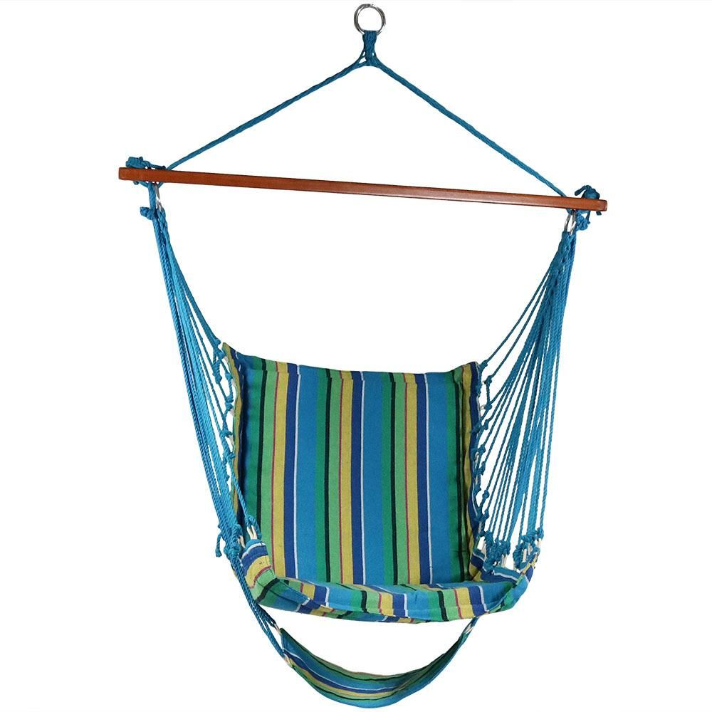 Sunnydaze decor ft fabric hanging soft cushioned hammock chair