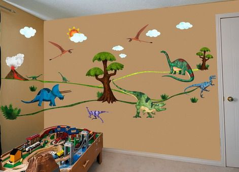 Superbe Dinosaurs Wall Stickers In Your Kids Bedroom Decorating Ideas
