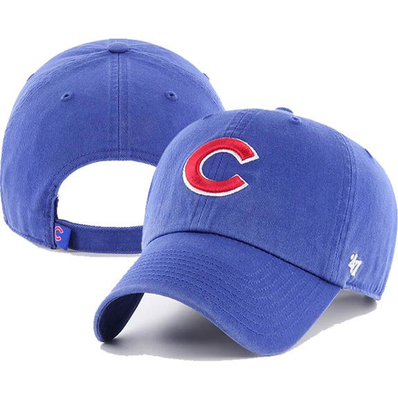 brand new b268f ddb78  47 Brand Chicago Cubs Clean Up Adjustable Hat (Royal Red)