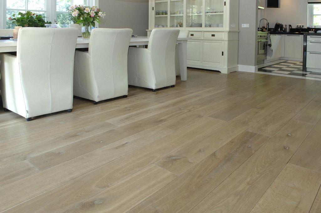 Brede eiken houten vloer vloeren