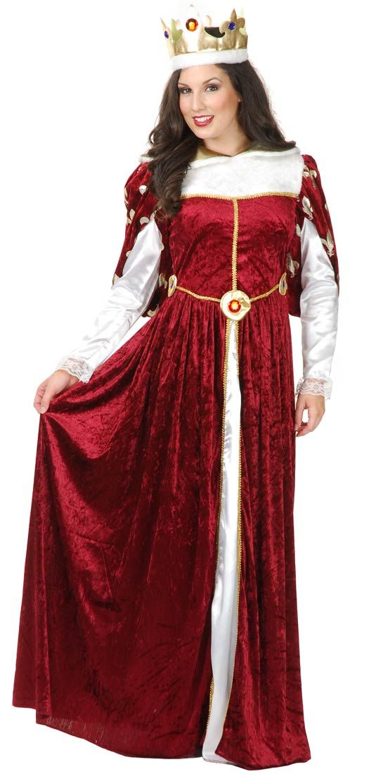 Queens Gown Adult Costume - Renaissance and Medieval Costumes ...