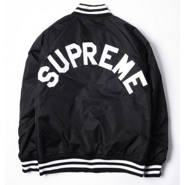 beställa online smuts billigt varm produkt Pin Supreme Champion Classic Varsity Jacket Black on Pinterest ...
