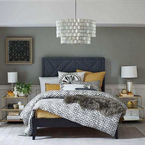 New Bedroom Colour Schemes Mustard Gray 42 Ideas Yellow Bedroom Decor Home Decor Bedroom Bedroom Interior
