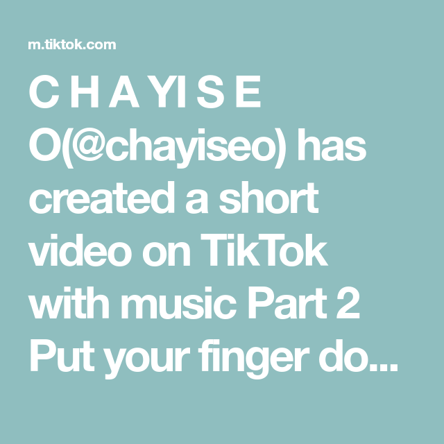 C H A Yi S E O Chayiseo Has Created A Short Video On Tiktok With Music Part 2 Put Your Finger Down So Some Of Yo American Singers Jessie J Christina Perri