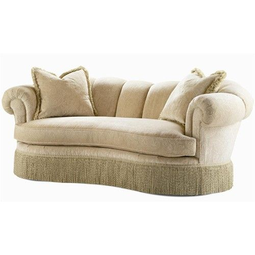 Century Elegance Stationary Sofa With Fringe Base Baer S