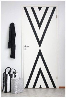 tape to decorate wall!