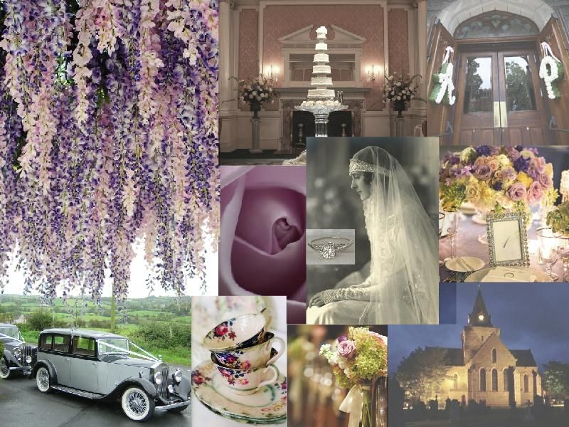 Whimsical Elegant Wedding Theme Vintage Weddings Moodboard Created Using Sampleboard
