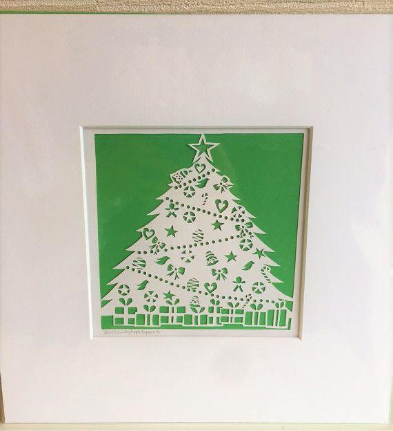 Christmas Papercut  Christmas Tree by SundayApplePapercuts on Etsy