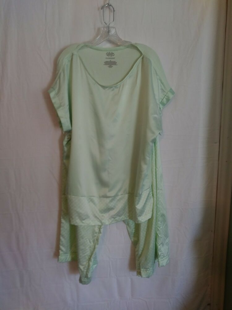 Cabernet Womens Light Green Polka Dot Pajamas Size Xl Fashion