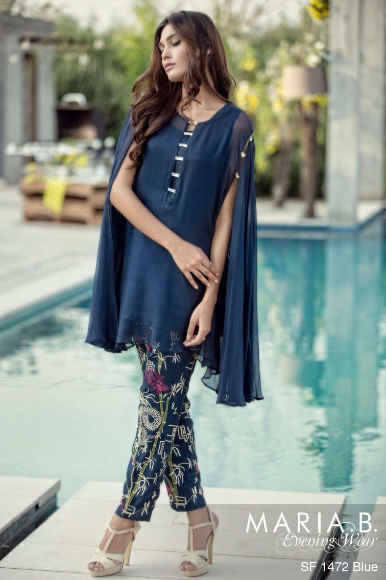 492faa54f1 Maria b Pakistani Cape Dresses, Eid Dresses, Pakistani Suits, Maria B,  Kaftan