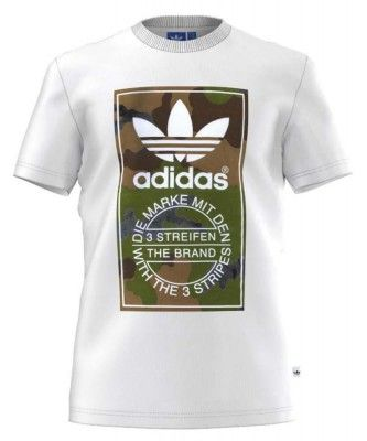 adidas originals Camo Label Tee White Man. Ropa hombre cd0137d80e673