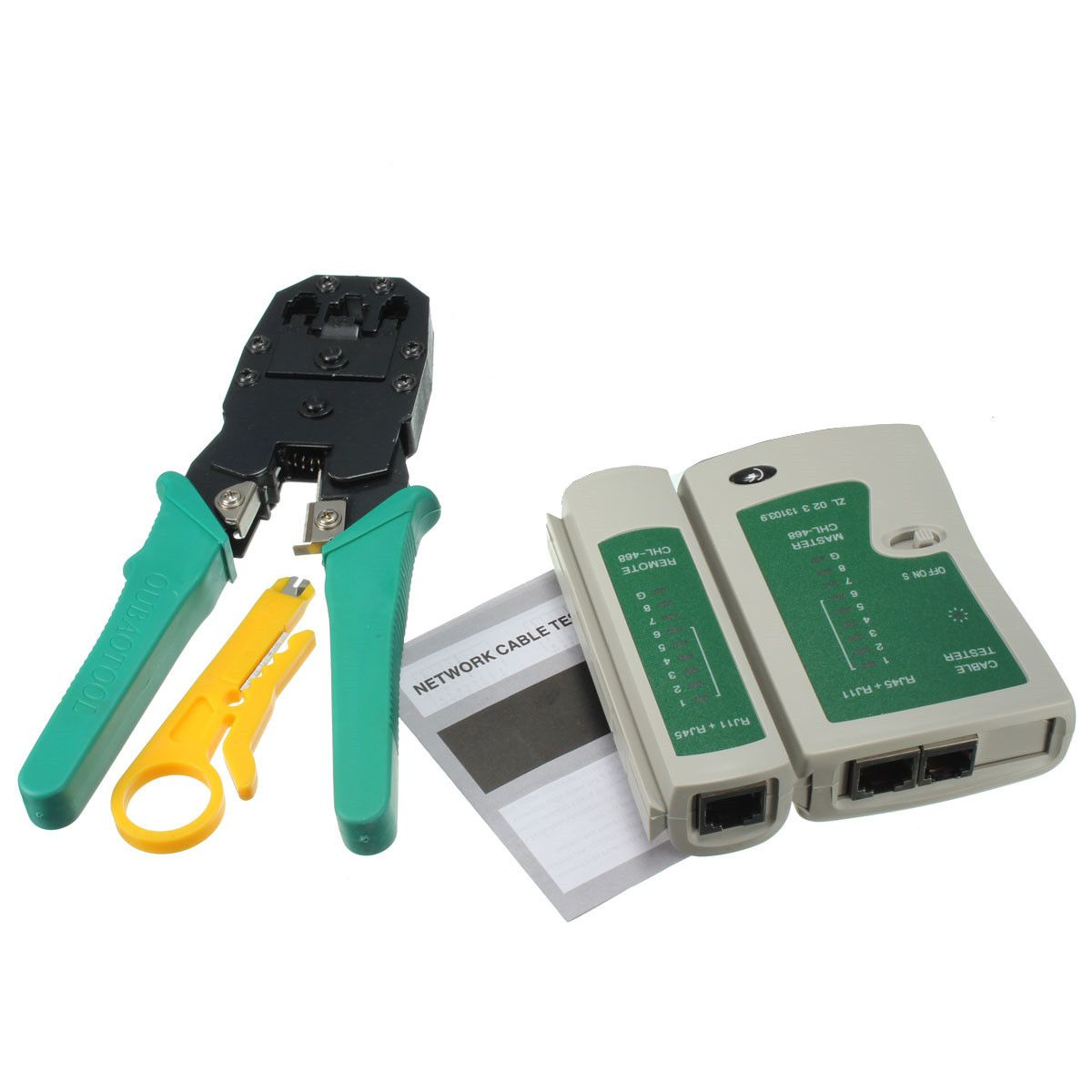 DANIU RJ45 RJ11 RJ12 CAT5 LAN Network Tool Kit Cable Tester Crimp ...