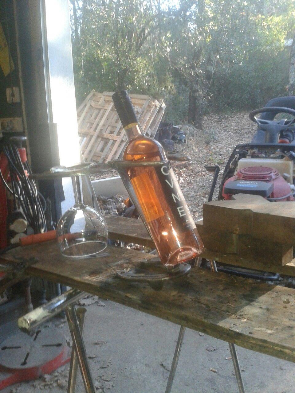 Support De Bouteille Et Verres En Fers A Cheval Tambour Machine A Laver Idees Pour La Maison Machine A Laver
