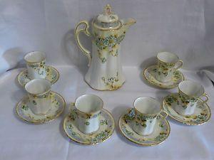 Hot Chocolate Set Nippon China | Gold Gilt Nippon Tea Hot Chocolate Coffee Set Hand Painted Pot Cups ...