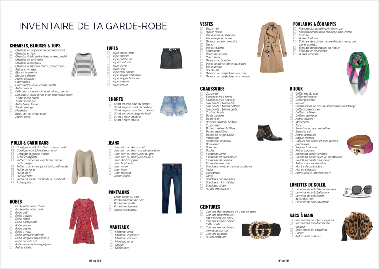Ebook Commencer Inventaire De La Garde Robe S Habiller Robe De Base Comment Bien S Habiller