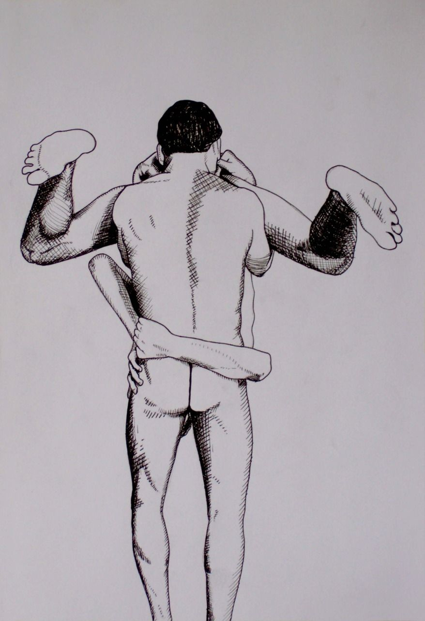 sex art black Gay in and white