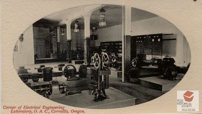 Early 1900s Electrical Engeneering Lab At Oregon Agricultural College Oregonstateuniversity Corvallis Oregon State University Oregon Oregon State