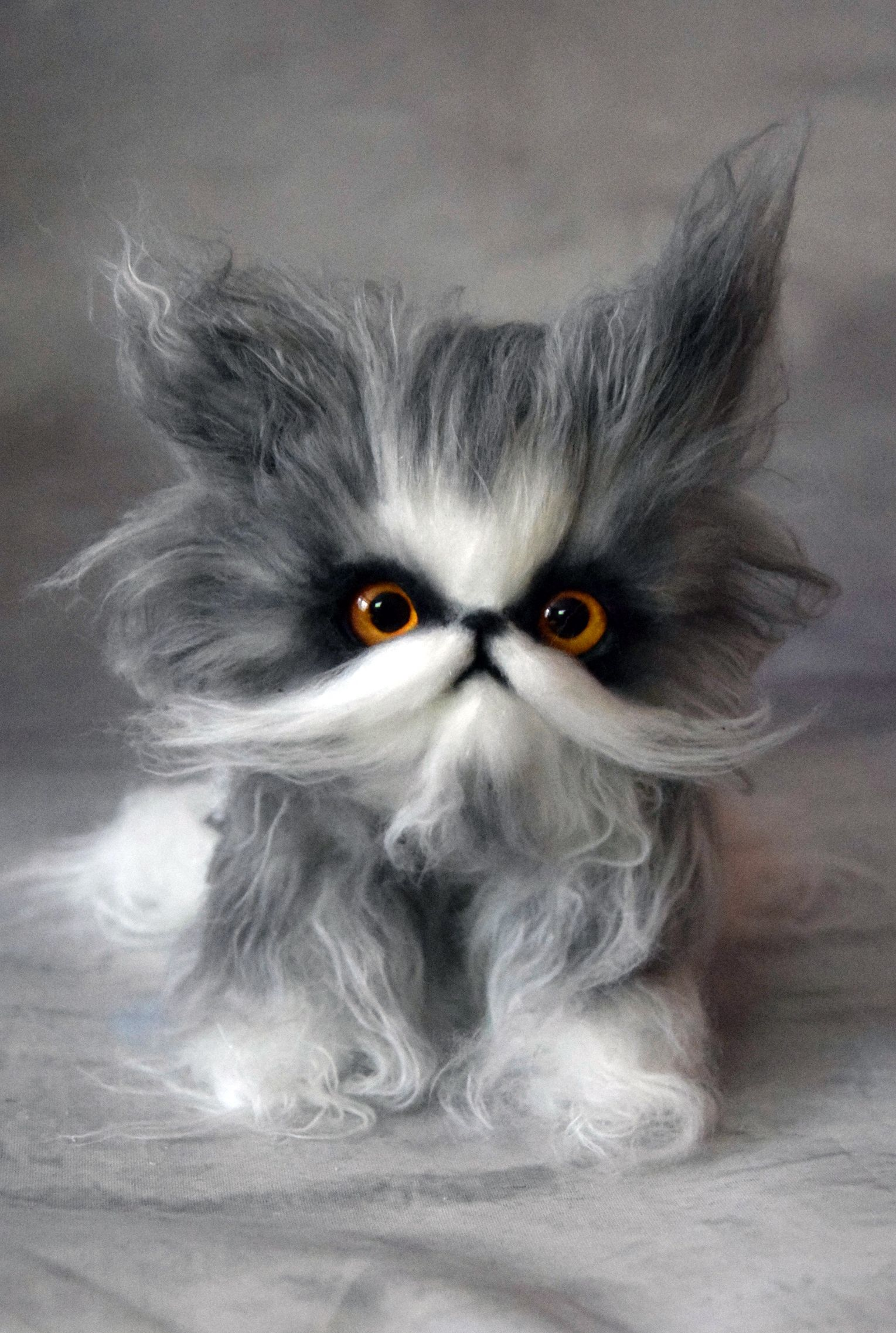 Persian Kitten And Fantasy Cats Toy By Monkeybusinesstoys Fantasy Creatures Pets Toys From Faux Fur And Polymer Clay Myst Persian Kittens Cat Toys Pet Toys