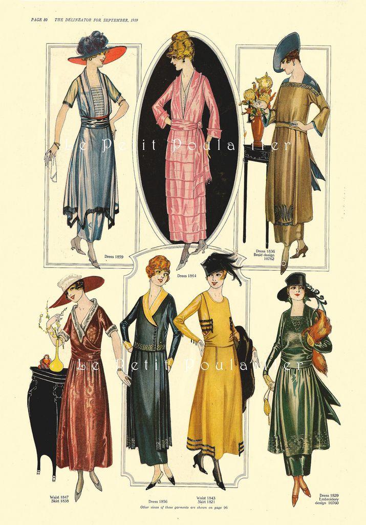 PetitPoulailler 1919 Delineator Magazine (Butterick), 80 | Mode 1920 ...