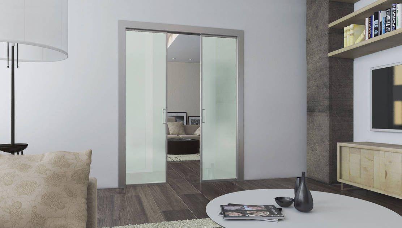 La porta scorrevole scrigno acqua si distingue per la sua linea semplice e moderna in - Porta scrigno vetro ...