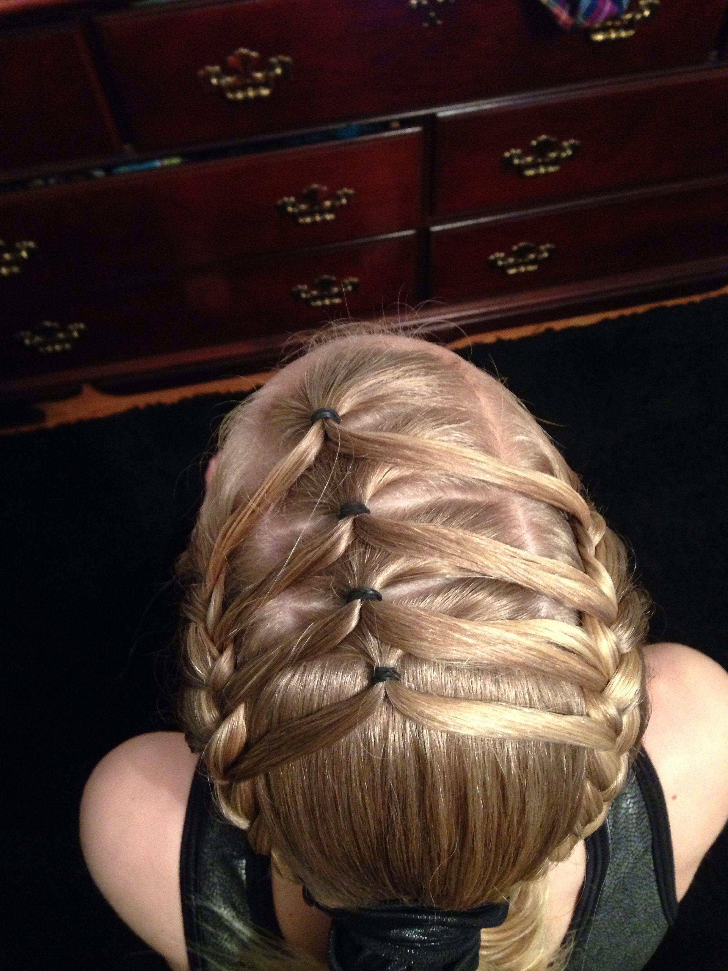 Gymnastics hair cheerleading hairstyles pinterest gymnastics