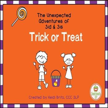 This is a story of two siblings, Sid (Socially Inappropriate Dude) and Sis (Socially Inappropriate Sister).  They go on unexpected adventures and make lots of social mistakes in this Trick or Treat themed story!  As you read each page of their story, you can use the question cards included to help your students figure out: The choices that Sid and Sis make that are unexpectedWhat they should have said or done differently to make expected choicesWhat others in the story might be feeling…