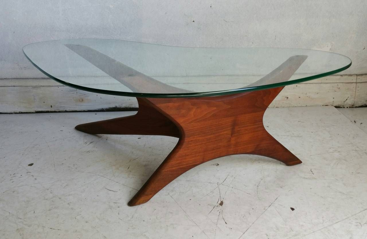 Adrian Pearsall Biomorphic Walnut And Free Form Glass Coffee Table Coffee Table Images Coffee Table Glass Coffee Table [ 835 x 1280 Pixel ]