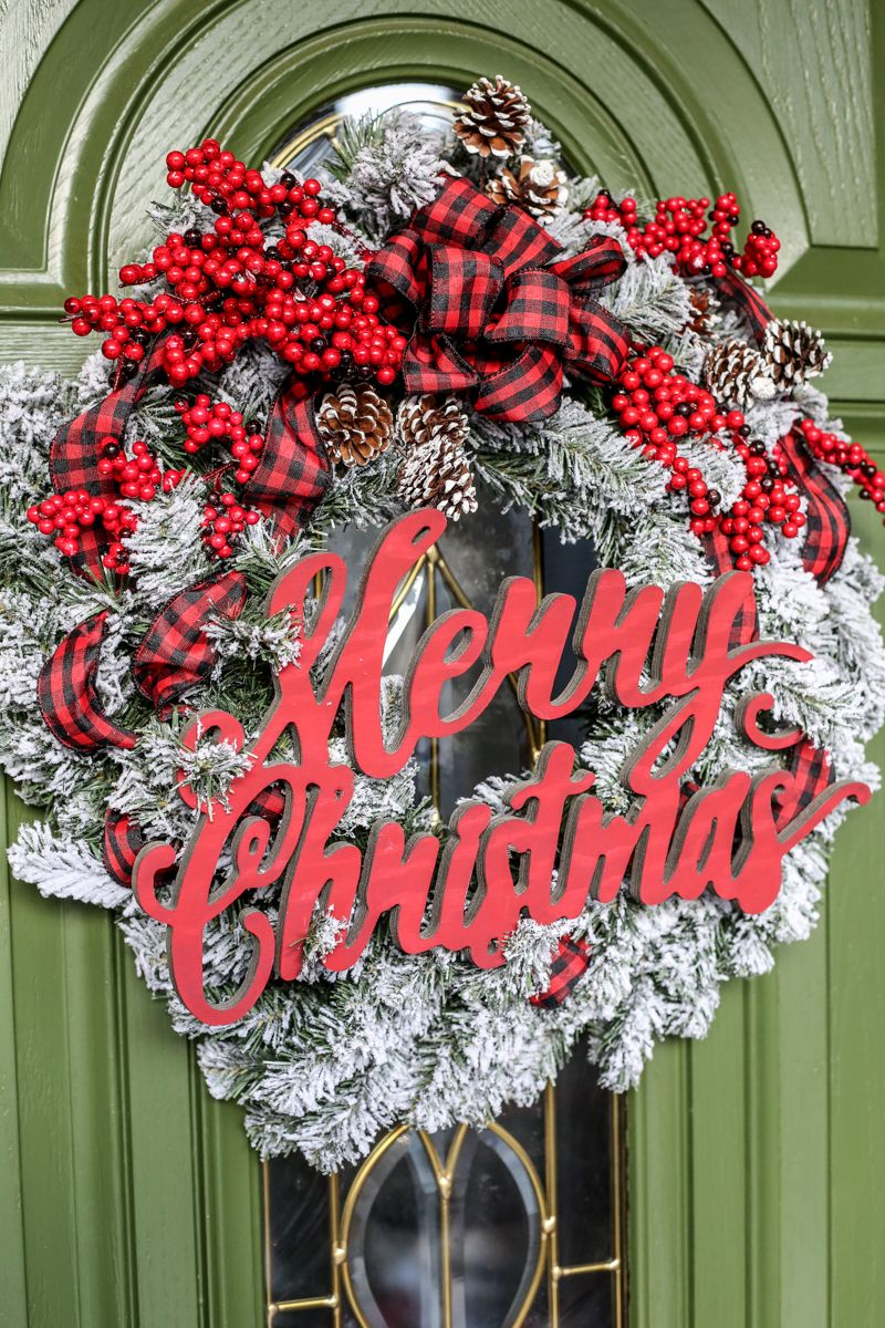Christmas Flocked Wreath Holiday Joanns   Bower Power 29