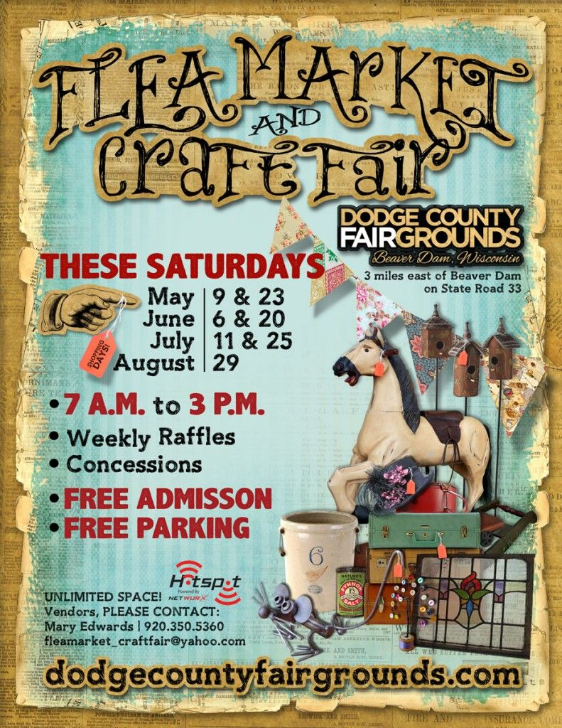 2015 Flea Market and Craft Fair Poster at the Dodge County ...