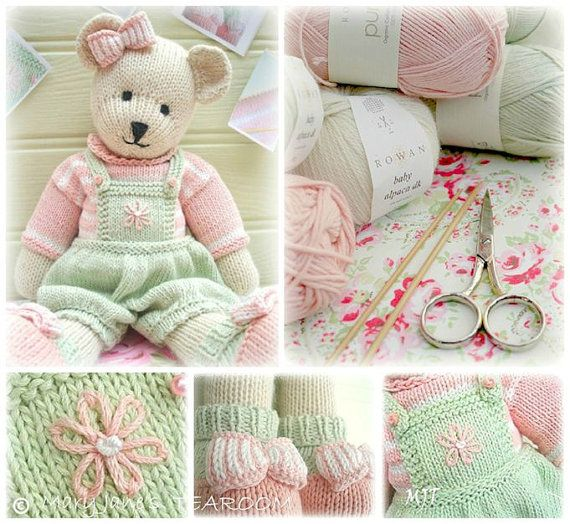 CANDY Bear/ Toy/ Teddy Bear Knitting Pattern/ PDF/ Plus Free Handmade Shoes K...