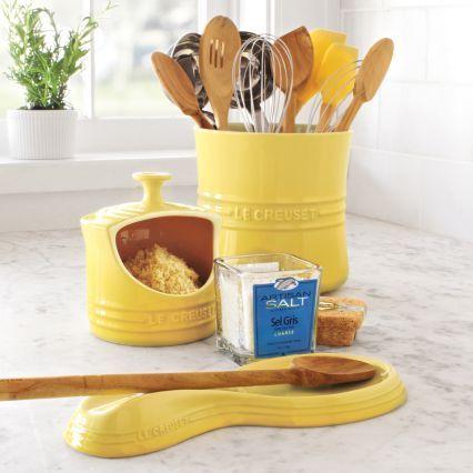 Le Creuset Soleil Utensil Crock Sur La Table Koken Keuken Idee