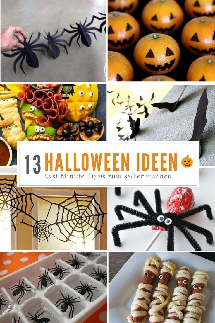 Halloween-Dekorationen & Partysnacks | 13 Ideen für Kinder