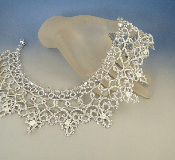 Cinderella , needle tatting necklace pattern | Collar de encaje ...
