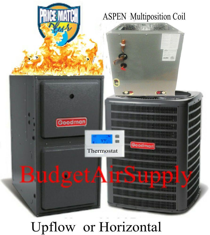 1 5 Ton Goodman Aspen 14 Seer 95 96 60k Btu Gas Furnace Multi Position Coil Gas Furnace Furnace Home Improvement