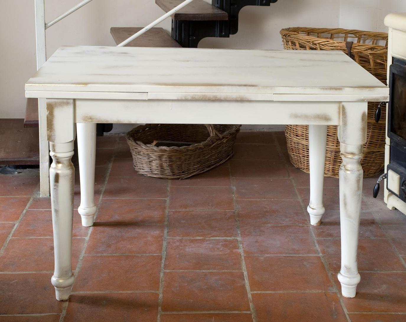 Mobili Castagnetti ~ Tavolo rettangolare allungabile in legno stile country