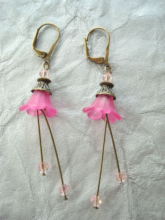 Mother's Day Lucite Earrings in Beautiful by SonseraeDesigns, $15.00