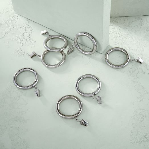 Round Metal Curtain Rings Metal Curtain Curtains With Rings