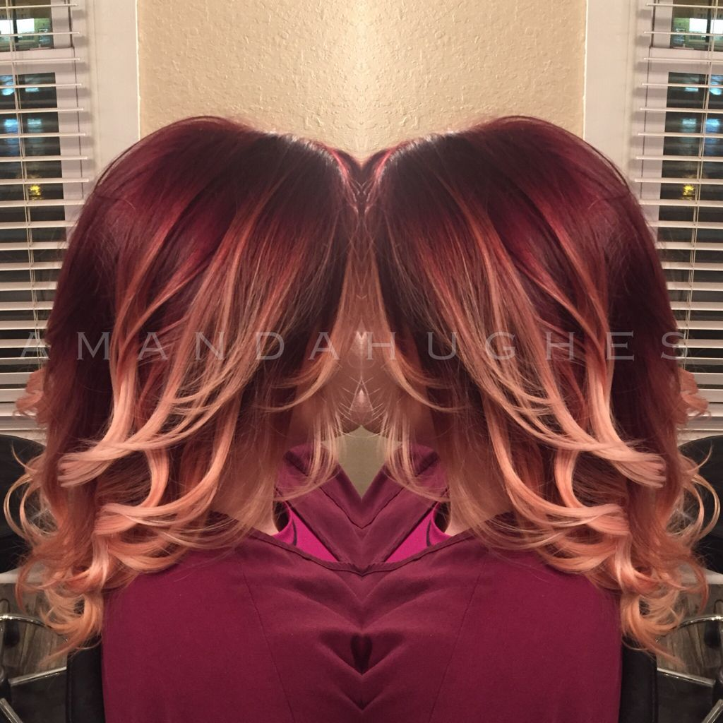 Beautiful burgundy ombre joico redombre hair in pinterest