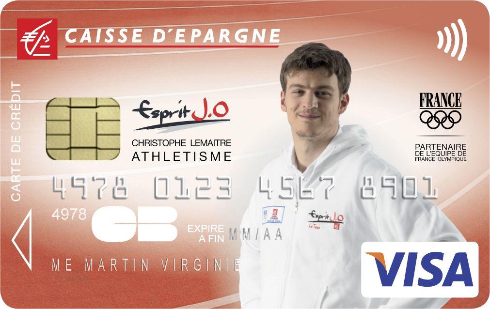 Envie d'avoir une carte bancaire à l'effigie de Christophe Lemaitre ? Rendez-vous sur www.caisse-epargne.fr/EspritJO pour la commander ou adressez-vous directement à votre conseiller !