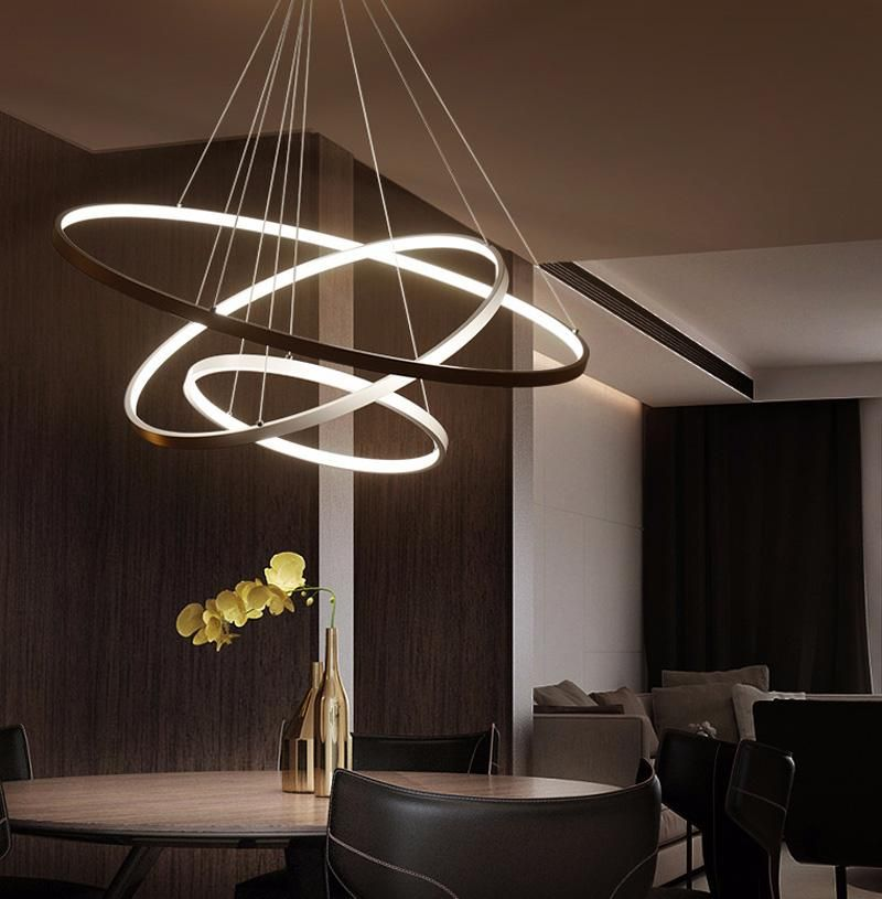 Modern Circular Ring Pendant Lights 3 2 1 Circle Rings Acrylic Aluminum Body Led Lighting Ceiling Lamp Fixtures For Living Room Dining Room From Greatlight520 Ceiling Lights Ceiling Light Design Ceiling Lamps Living Room Modern ceiling light fixtures