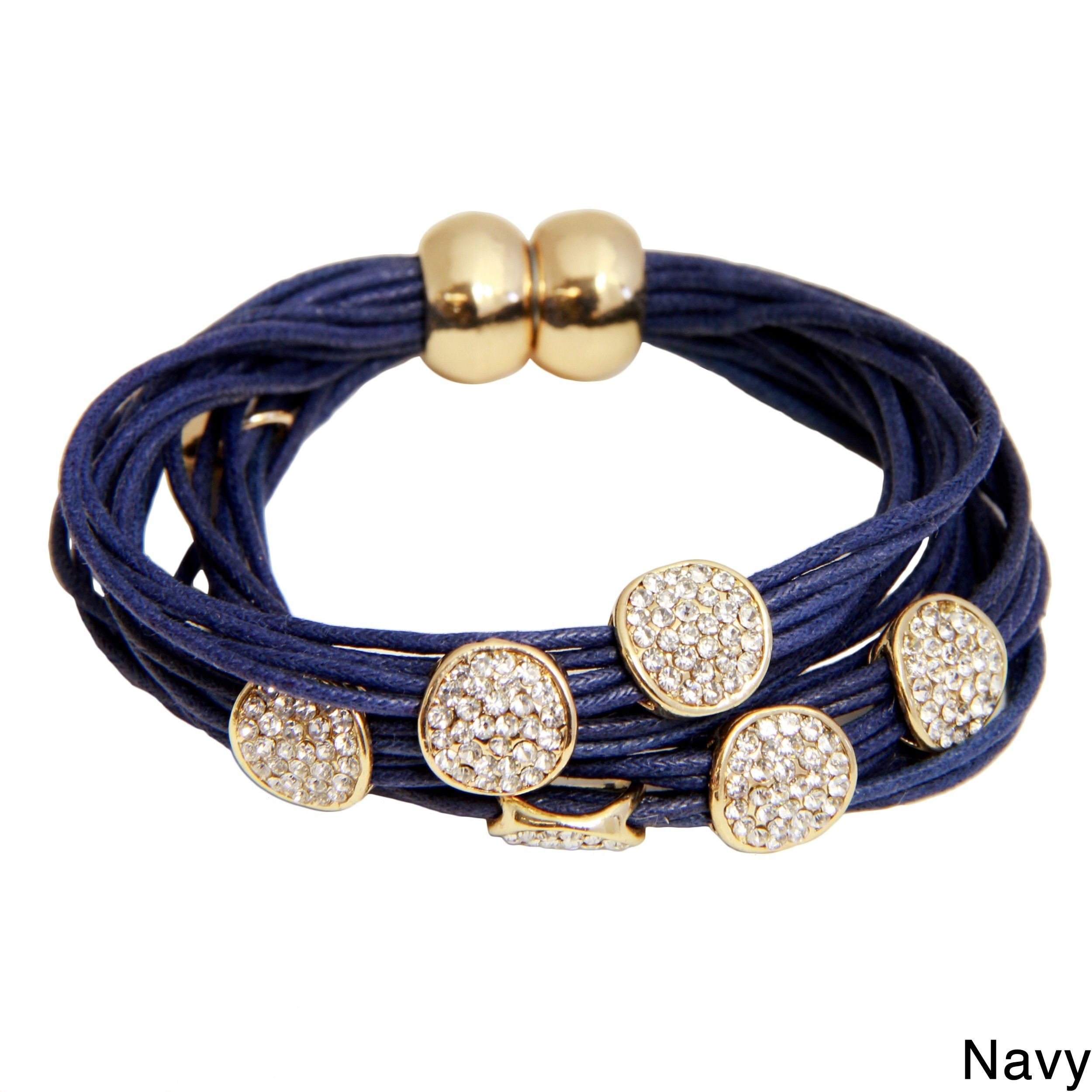 Saachi Magnetic String Bracelet with Circle Charms